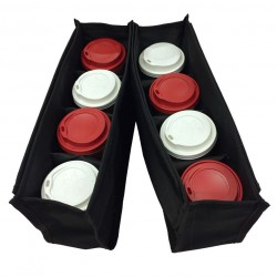 Fabric Case For Isothermal Coffee Delivery Bags Black