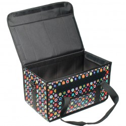 Isothermal Delivery Coffee Bag Black With Dots