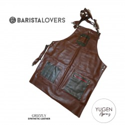 "Yugen Aprons ""Grizzly"" Premium Apron With Double Canvas And Synthetic Leather Digital Print"