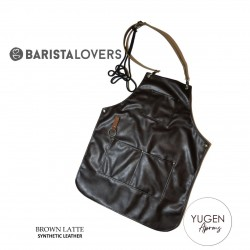 "Yugen Aprons ""Brown Latte"" Premium Double Synthetic Leather"