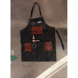 Lavazza Apron Barista Jean With Leather