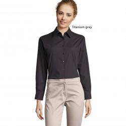Sol's Executive Women's Long Sleeve Poplin Shirt
