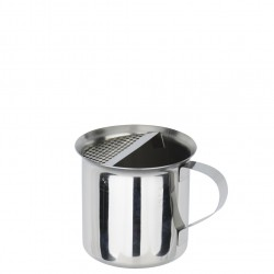 Short Pot Inox With Strainer And Handle