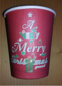Χάρτινο ποτήρι 8oz Χριστούγεννα