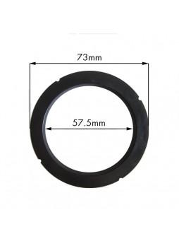Φλάντζα Porttafilter για Rancilio 73x57.5xH.8mm NBR 85SH με 4 εξωτερικές εγκοπές