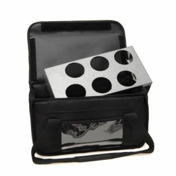 Ισοθερμική Τσάντα Delivery Καφέ 6 Θέσεων Χωρίς Βάση