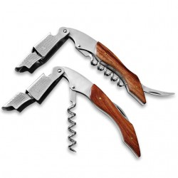 2-Steps Wine Corkscrew professional Inox-Wood