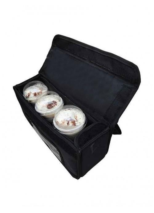 458df3daa4c Ισοθερμική Τσάντα Delivery Καφέ 3 Θέσεων