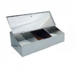 Coffee Box Stainless steel -3 Slots