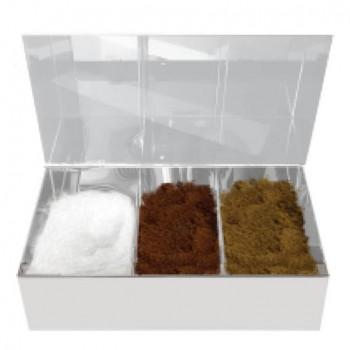 Κουτί Καφέ Inox Plexiglass - 4 θέσεων