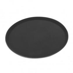 Serving Tray Round Non-skid Black 35.6cm