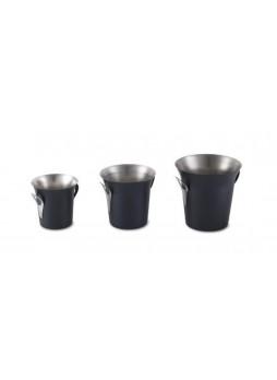 Παγοδοχείο Inox με χειρολαβές και  μαύρο φινίρισμα σε 3 διαστάσεις