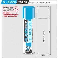 FlameClub Butane Gas Refill 250ml