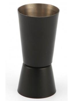 Κυλινδρική μεζούρα κοκτέιλ jigger 30-60ml μαύρη