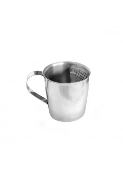 Κοντό Σκεύος με χερούλι Inox18/10 Με Σίτα 350ml για απευθείας εφαρμογή κάτω από την μηχανή καφέ