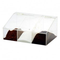 Coffee Storage Box PG with 3 slots Tranparent Big