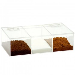 Coffee Storage Box PG with 3 slots Tranparent Small