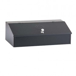 Coffee Storage Box with 2 slots Black Stainless Steel
