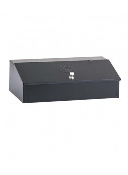 Κουτί αποθήκευσης καφέ ανοξείδωτο μαύρο 3 θέσεων