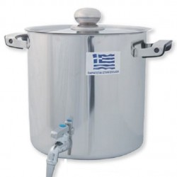 Storage Tank With Faucet 10Lt 18/10 Stainless Steel