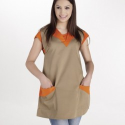 Apron double - bump bicolor, with another color in the neck and pockets