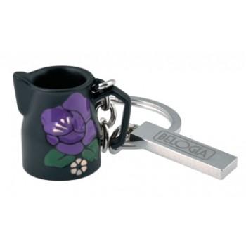 Belogia krmp 4 530 Μπρελόκ Γαλατιέρα Μαύρη με Λουλούδι