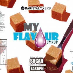 My Flavour Syrup Brown Raw Cane 1lt