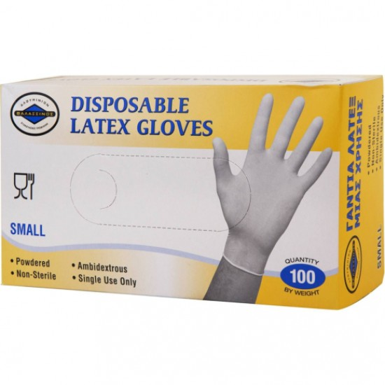 Disposable Latex Gloves Powdered 100pcs