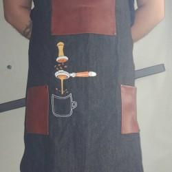 Lavazza Apron Barista Jean With Leather