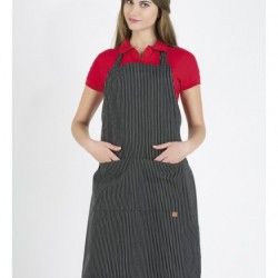 New Collections Striped Apron P420