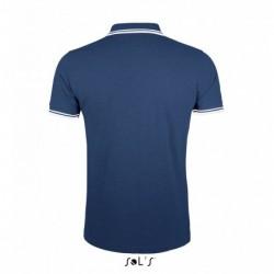 Mens Polo pique, short sleeve, striped collar