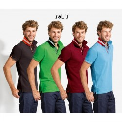 Mens Polo pique, short sleeves, with reinforced placket