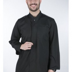 Cook jacket with long sleeves and clasp with hidden buttoning