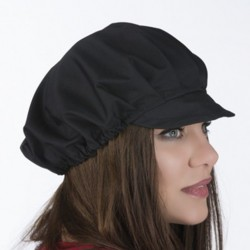 Beanie pleated front and visor