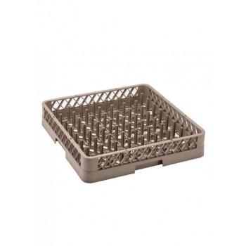 Καλάθι πλυντηρίου Πιάτων - Δίσκων 50x50x10cm πλαστικό Καφέ
