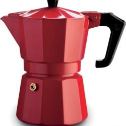 Pezzetti Italexpress Moka Espresso Coffeemaker 3 Cups Red