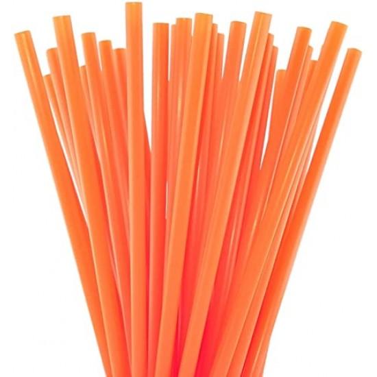 Orange Plastic Straws 1000pcs