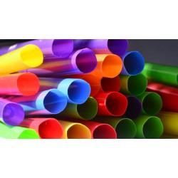 Multicolor Plastic Straws 1000pcs