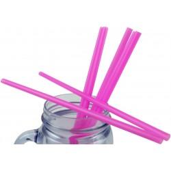 Pink Plastic Straws 1000pcs