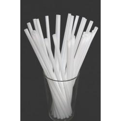 White Plastic Straws 1000pcs