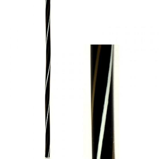 Plastic Straws Black/White/Gold 1000pcs