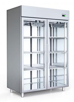 Ψυγείο Βιτρίνα Θάλαμος Συντήρησης Με Δύο Πόρτες Inox