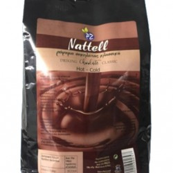 Nattell Chocolate Beverage Classic 1Kg + Gift Brid Syrup