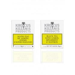 Krocus Kozanis Black Tea with Lemon, Spearmint & Saffron
