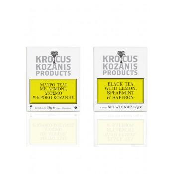Krocus Kozanis Μαύρο Τσάι με Κρόκο Κοζάνης, Λεμόνι & Δυόσμο