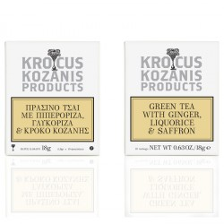 Krocus Kozanis Green Tea with Ginger, Liquorice & Saffron