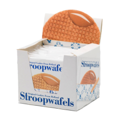 Stroopwafels biscuits waffles with a layer of caramel syrup