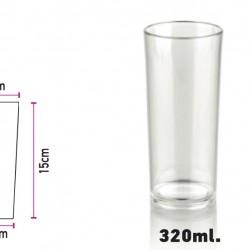 Glass Polycarbonate Tube 320ml