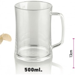 Glass of Polycarbonate Beer 500ml