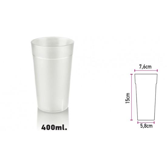 Glass of Polycarbonate Sandblast 400ml